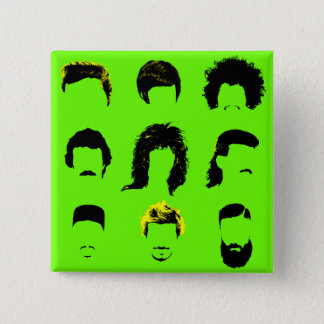 Different Men's Hairstyles Pinback Button