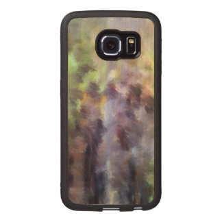 Different multicolored pattern wood phone case