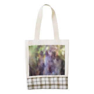 Different multicolored pattern zazzle HEART tote bag