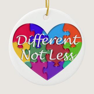 Different Not Less Autism Awareness Ceramic Ornament
