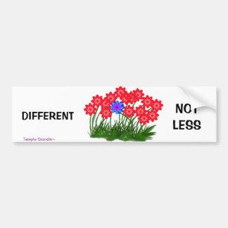 Different Not Less Car Bumper Sticker