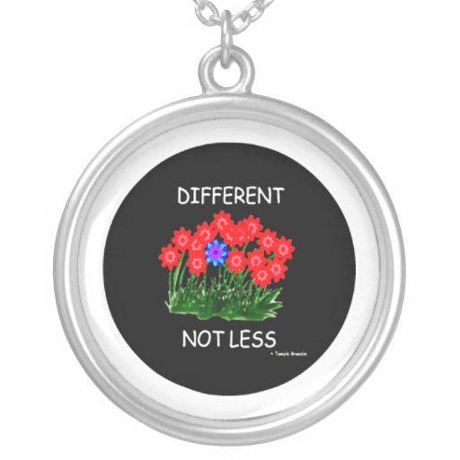 Different Not Less/NECKLACE Round Pendant Necklace