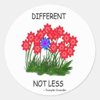 Different Not Less/STICKER Classic Round Sticker