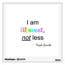 """Different Not Less"" Wall Decal"