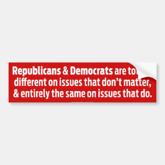 Different On What Doesn't Matter  Bumper Sticker