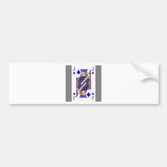 different playing card bumper sticker