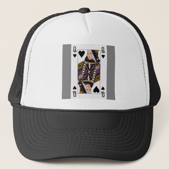 different playing card trucker hat