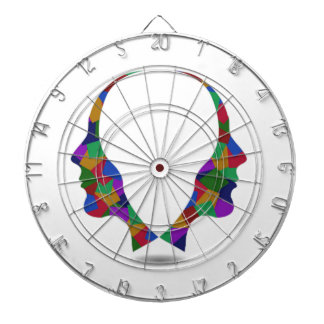 Different point of view of perspective dart board