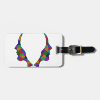Different point of view of perspective luggage tag