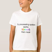 """Different Processing"" Kid's Straight T-Shirt"