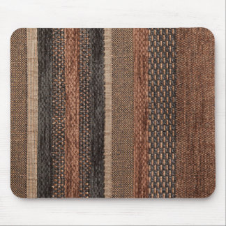 Different shapes and structures of brown and black mouse pad