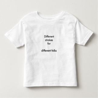 Different strokes toddler t-shirt