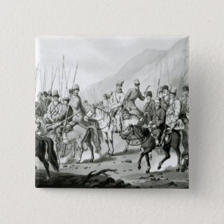 Different Tribes of Russian Cossacks Button