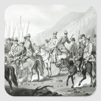 Different Tribes of Russian Cossacks Square Sticker