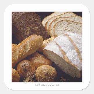 Different types of artisan bread sticker
