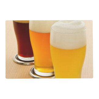Different types of beer placemat