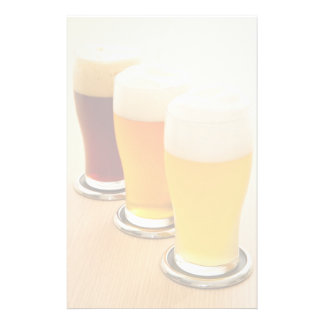 Different types of beer stationery