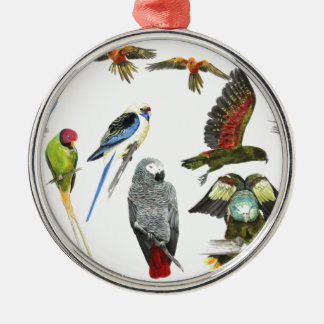 Different types of parrot gift for the parrot love metal ornament