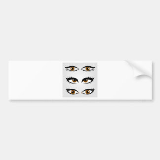 Different types of womens eyes bumper sticker