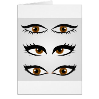 Different types of womens eyes card