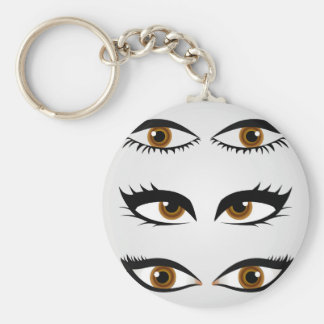 Different types of womens eyes keychain