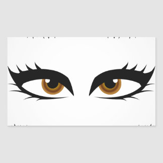 Different types of womens eyes rectangular sticker