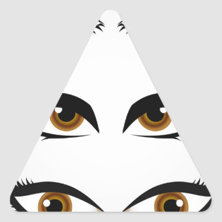 Different types of womens eyes triangle sticker