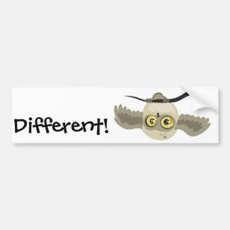 Different! upside down owl bumper sticker car bumper sticker