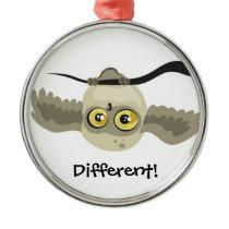 Different! upside down owl ~ornament metal ornament