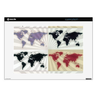 """Different world maps skins for 15"""" laptops"""