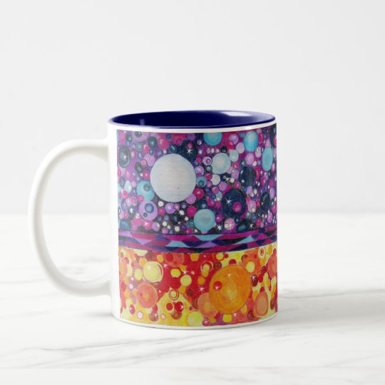 Different Worlds Two-Tone Coffee Mug
