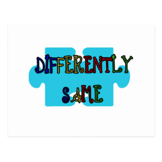 Differently Abled Autism Awareness Postcard