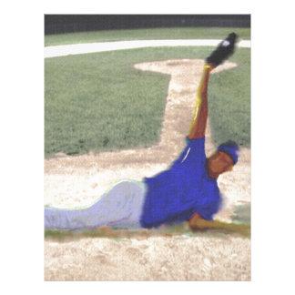 Difficult Baseball Catch Art Letterhead