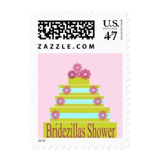 DIFFICULT BRIDE BRIDEZILLAS SHOWER POSTAGE STAMPS