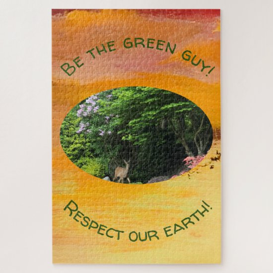 Difficult Puzzle: Be The Green Guy Jigsaw Puzzle