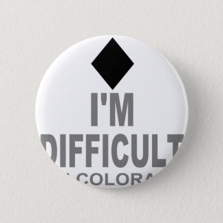 Difficult Ski Colorado Pinback Button