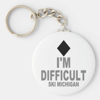 Difficult Ski MICHIGAN Keychain