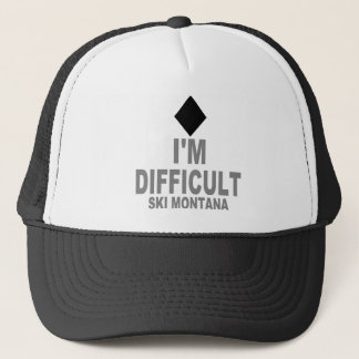 Difficult Ski MONTANA Trucker Hat