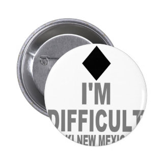 Difficult Ski NEW MEXICO Pinback Buttons