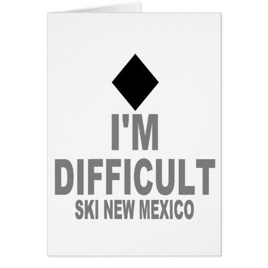 Difficult Ski NEW MEXICO Card