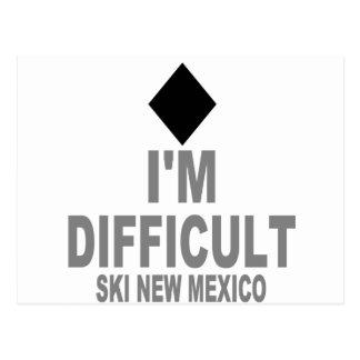 Difficult Ski NEW MEXICO Postcard