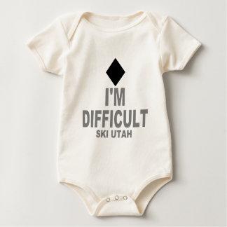 Difficult Ski Utah Baby Bodysuit