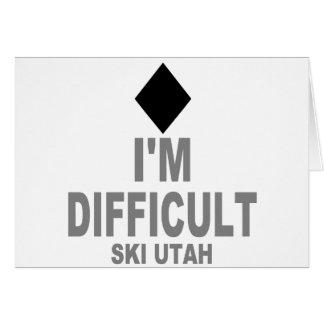 Difficult Ski Utah Card