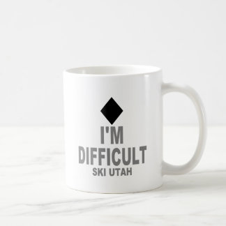 Difficult Ski Utah Coffee Mug