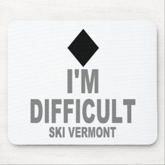 Difficult_Ski_VERMONT Mouse Pad