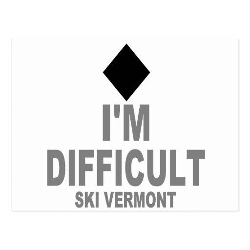 Difficult_Ski_VERMONT Post Cards