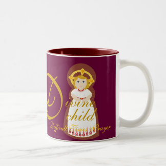 """Difficult Times Prayer"" Comfort Mug-Cust. Two-Tone Coffee Mug"