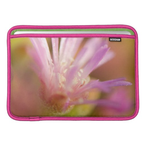 Diffused Image Of A Colorful Succulent Flower Sleeve For MacBook Air