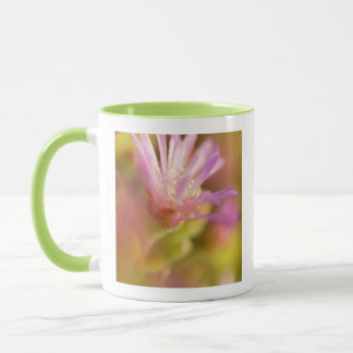 Diffused Image Of A Colorful Succulent Flower Mug