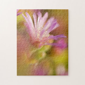 Diffused Image Of A Colorful Succulent Flower Puzzles